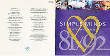 CD 16T SIMPLE MINDS GLITTERING PRIZE 81/92 BEST OF 1992