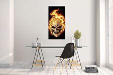 Wandtattoo Wandsticker Aufkleber Skull Fire Grösse: 60 x 120 cm