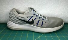 Nike Lunarstelos Wolf Gray Blue White Lunarlon Running Shoes Sneaker~Mens Sz 9.5