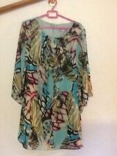 ladies multicoloured dress wallis size 16