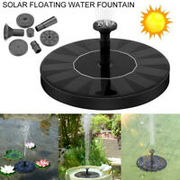16cm Solar Floating Bird Bath Water Panel Fountain Pump Garden Pool Pond Patio