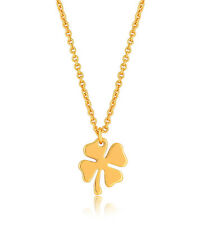 Four Leaf Clover Necklace Gold Charm Lucky Shamrock Pendant Necklace Gift