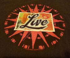 Live Band T Shirt Retro 2000 Giant Alternative Star Coy Fish Throwing Copper Lrg