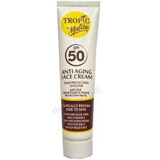 Malibu Tropic ANTI AGING Face Cream 40ml SPF 50 Sun Protection Aloe Vitamin E