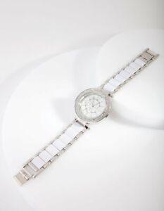 LADIES WATCH - LOVISA WATCH - RHODIUM GLAMOUR DIAMONTE - BRAND NEW IN PACKET