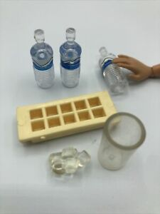 1:6 TYCO Kitchen Littles ICE CUBES & TRAY Refrigerator replacement Barbie FOOD