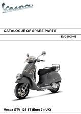 Piaggio Vespa parts manual book 2007 Vespa GTV125 4T (euro 3) (uk)