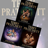 Terry Pratchett The Nomes 3 Books Collection Pack Set Diggers,Truckers, NEW