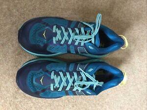 Hoka Stinson ATR 5 Blue Trainers Trail Size UK 8.5 Running Shoes