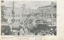 Framingham MA * Amsden Building after Collapse  1906 * J.F. Eber  Publisher