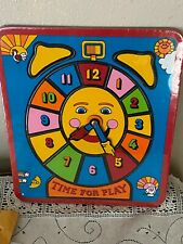 New Vintage Avon Gallery Originals Time for Play Puzzle Learn To Tell Time