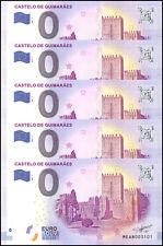 Zero - 0 Euro Europe X 5 Pieces - PCS, 2017, UNC, Castelo De Guimaraes, Portugal