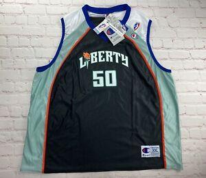 NWT Rebecca Lobo Vintage WNBA New York Liberty Champion Womans Jersey RARE XXL