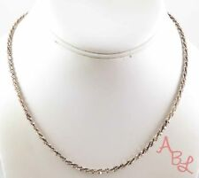 Sterling Silver Vintage 925 Diamond Cut Bar Linked Necklace 16'' (8.2g) - 745295