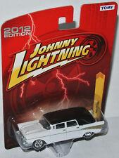 Forever 64 R21 - 1957 CHEVY HEARSE - white/black - 1:64 Johnny Lightning