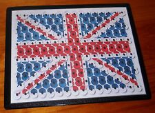 Remembrance Day Union jack flag poppy mouse mat