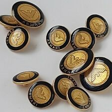 VINTAGE RARE ARMANI SEWING SUIT SIGNED BUTTONS LOGO GOLD TONE LOT OF 12