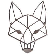Wildlife Fox Head Metal Wall Decor Rustic Woodland Country Sculpture