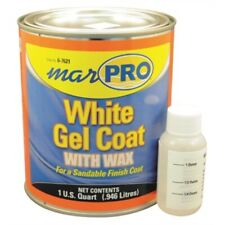 Marpro 601110600 Gel Coat White with Wax QUART Boat Fiberglass Repair Marine MD