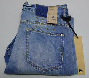 NEW Ksubi SLIM SLOUCH W-27 Low Slung Drop Crotch Tapered Leg Blue Jeans $219.95