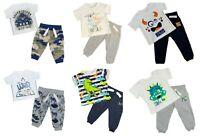 Boys Tracksuit Jogger And T-shirt Set Four Styles Newborn up to 12-18 Months