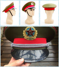 Chinese Communist Army Cap&badge 59cm Military officer Captain's Visor New Hat