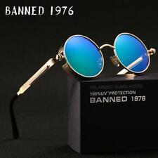 2019 HD polarized round metal sunglasses uv400 men's sun glasses women's vintage