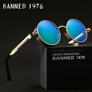 2019 HD polarized round metal sunglasses uv400 men's sun glasses women's vintage