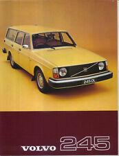 Volvo 245 Estate DL & DLE 1977 Original UK Sales Brochure single sheet