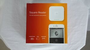 SQUARE Contactless Credit Card and Chip Reader White For iOS & Android Bluetooth