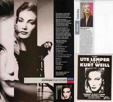 UTE LEMPER : CUTTINGS COLLECTION -adverts-