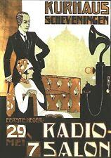 MAGNET Advertising Photo Magnet Philips Radio Salon 1930s