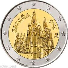Spain Espana Spanien 2 euro 2012 The Burgos Cathedral, Commemorate UNC from roll