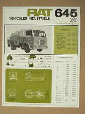 Camion  FIAT SOMECA 645 N Lait   LKW  truck  prospectus prospekt catalogue