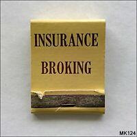 MTIA Insurance Broking Pty. Ltd. Sth Melb Nth Syd Bris Matchbook (MK124)