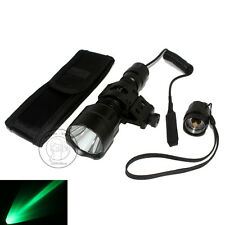 Ultrafire C8 Tactical CREE Q5 LED 1Mode 250LM Green light Flashlight + Mount Set