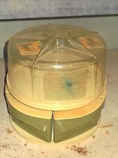 Vintage-BLISSCRAFT OF  HOLLYWOOD-Lazy Susan- Cake Holder- 4 AvocadoCanister Set