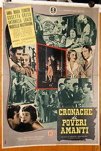 soggettone film CRONACHE DI POVERI AMANTI M.Mastroianni A.M.Ferrero Lizzani 1954