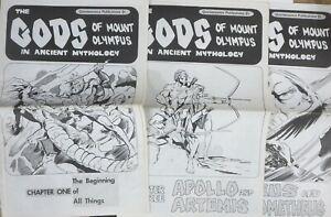 GODS OF MOUNT OLYMPUS #1-3 COMPLETE! Joe Staton & Johnny Achziger Newspaper