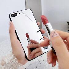 Girl's moda de lujo bonito Espejo Lado Suave Estuche Cubierta para 6S 7 8 Plus iPhone X