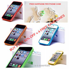 iphone 4/4s  SOFT TPU MATTE CASE COVER ANTI-DUST PROOF PLUGS – ONE FREE GIFTS.
