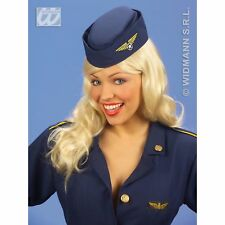 Flight Attendant Hat Air Hostess Pilot Steward Fancy Dress Costume Accessory