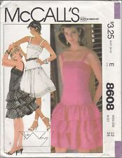 Misses' Dress Sleeveless Size 12 McCall's Sue Wong Pattern 8608 EXCELLENT CONDIT