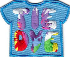 """""""TIE DYE"""" PATCH - CRAFT - HOBBY - SKILL - Iron On Embroidered Patch"""