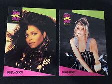 1990'S SUPER STARS ROCK EXPRESS DEBBIE GIBSON & JANET JACKSON TRADING CARDS