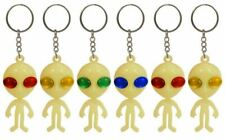 ALIEN KEY CHAIN GLOW IN THE DARK Pinata Toy  Party Bag Fillers Key Chain Ring