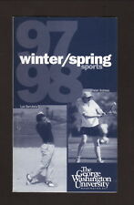 George Washington Colonials--1997-98 Winter/Spring Pocket Schedule