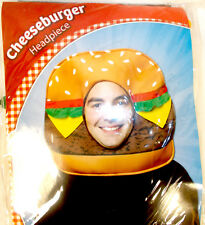 Rasta Imposta Brown Red Green Yellow Cheeseburger Headpiece Costume Adult OSFM