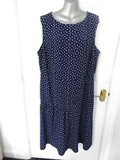 TU WOMAN Size 22 Navy Blue White Shift Plinth Dress NEW Plus Back Zip