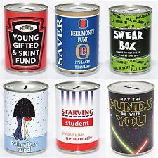 Standard Savings Tin Novetly Fun Money Saving Box - 28 Designs to Choose From